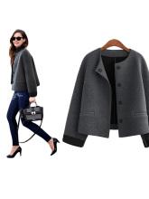 New Fashion Women Spring Autumn Solid Cardigan Long Sleeve Coat