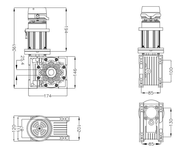 Variable-frequency Servo Motor