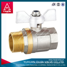 nickel plated brass ball beer valve made in YUHUAN OUJIA TMOK