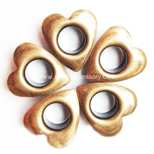 Fashion Heart Eyelets for Leather Work