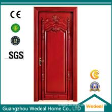 Panel único pintado MDF puerta de madera para la sala interior