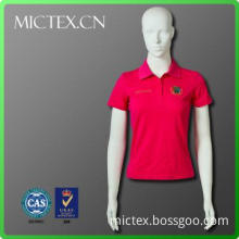 100% cotton clothes women new design rose red polo t shirt