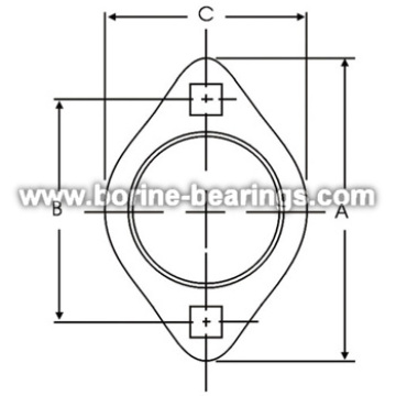 Hot Sale for Stamped Housing Flange 2-Bolt Hole Self-Aligning Mounting Flanges export to Zambia Manufacturers