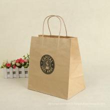Sacs en papier Kraft en gros pour le sac à provisions de cadeaux