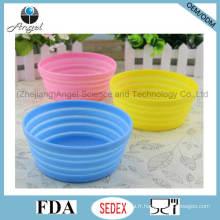 Non-toxique en silicone pliable Pet Dog Food Bowl pliable Water Bowl Alimentateur 350ml Sfb14