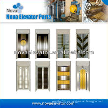 Acero Elevador Puerta Placa / Elevador Puerta Placa en Espejo Dorado