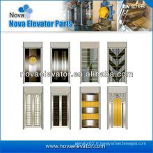 Steel Elevator Door Plate / Lift Porte plaque en miroir Golden