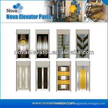 Aço Elevador Porta Plate / Lift Porta Placa em Espelho Golden