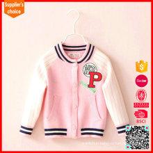 Latest fashion girs pink cardigan wholesale wool cashmere sweaters