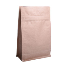 Sac de café biodégradable en papier kraft biodégradable, 12 oz