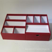 Organizador de escritorio de papel multifuncional con cajón