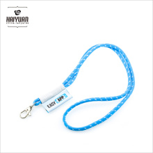Factory Custom Round Cord Neck Rope Lanyard with Woven Label