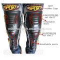 Knee Shin Armor Protect Guard Pads with Plastic Cement Hook for Motorcycle Motocross Racing