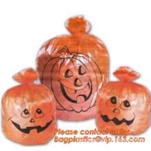 Fancy Gaint Halloween Leaf Trash Bag, Colorful Plastic Leaf Trash Bag For Advertisement, Plastic Die Cut Bags For Hallow