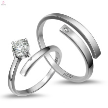 2018 Корейский Подруга Подарок Свадьба Кольца Серебро Ювелирные Изделия Пара Кольца