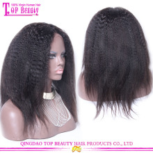 2015 New products 6A natural looking kinky straight wigs wholesale cheap kinky straight full lace wigs