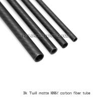 Tube en fibre de carbone à tige ronde avec couleurs personnalisées