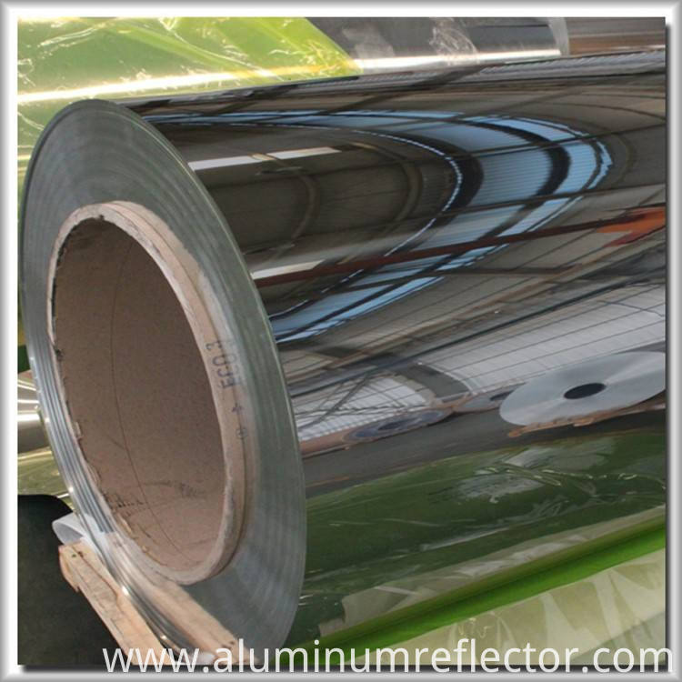 Mirrored aluminum sheet roll