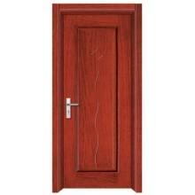 Porta de madeira aço interior