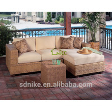 DE-(80) outdoor furniture sofa wicker/ rattan new l shaped sofa designs