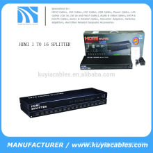 1 * 16 ports Hdcp Hdmi Splitter Amplificateur Ver 1.4 Boîte en métal pour Full HD 1080p 3d