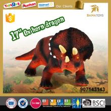 Hot item dinossauro crianças jogos de 17 polegadas soft brinquedo de borracha dinossauro