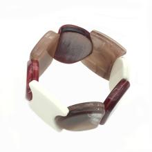 2020 wholesale iridescent charm bangle for women wrap lucite bracelet