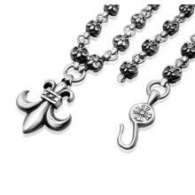 Iris Grain Pendant Necklace Titanium Steel Punk Men′s