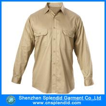 Camisas de algodão Men Guangdong Atacado com alta qualidade