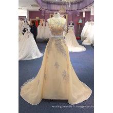 Robes de Soirée Broderie Champagne Shenath Prom