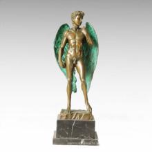 Estatua de la mitología con alas David escultura de mito de bronce TPE-355