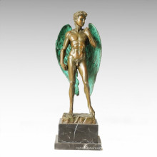 Mythology Statue Winged David Bronze Myth Sculpture TPE-355