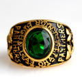 Vintage CZ Green Crystal Stone Jewelry Ring