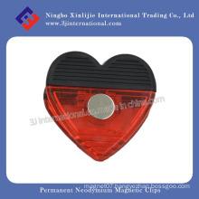 Business Advertising Logo Printed Plastic Magnet Clip