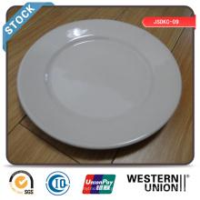 Assiette à diner 9 pouces (bord large) en stock avec prix bon marché
