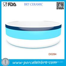 Petit bol en céramique de logo adapté aux besoins du client de forme ronde rouge