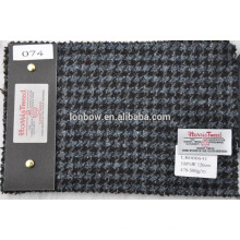 nomal width scotland tweed fabric in houndstooth design
