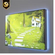 Señalización de panel LED con marco a presión ultradelgado retroiluminado