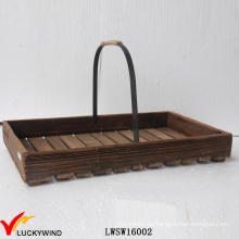 Reclaimed Fir Garden Dekorative Ostern Holz Korb mit Griff
