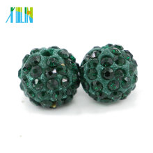 Emerald Color Cheap Bulk Wholesale Full Rhinestone Spacer Beads for Jewelry Making Size 4mm-18mm , IB00105 - Emerald