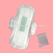 serviettes hygiéniques de coton de dames en gros, serviette hygiénique femelle ultra mince, de haute qualité