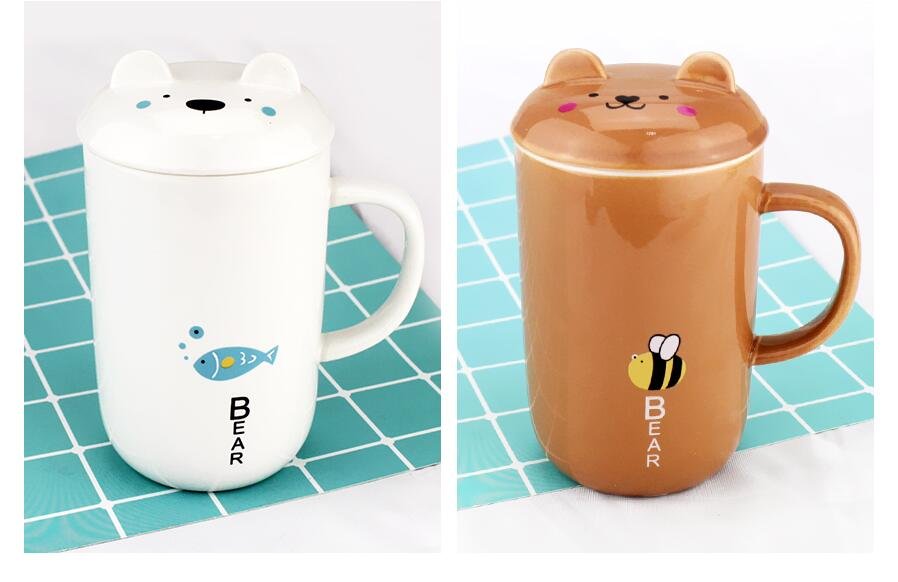 Creative Bear Shape Ceramic Cup te koop