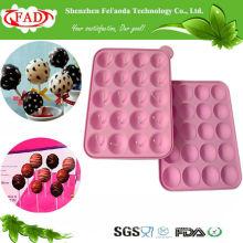 FDA Стандарт BPA-Free продовольственной категории Силиконовые Lolipop DIY Mold