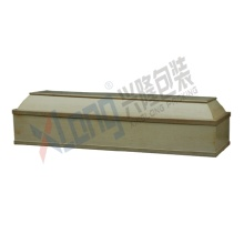 Cotton Interior White Walnut Veneer Full Open Coffin