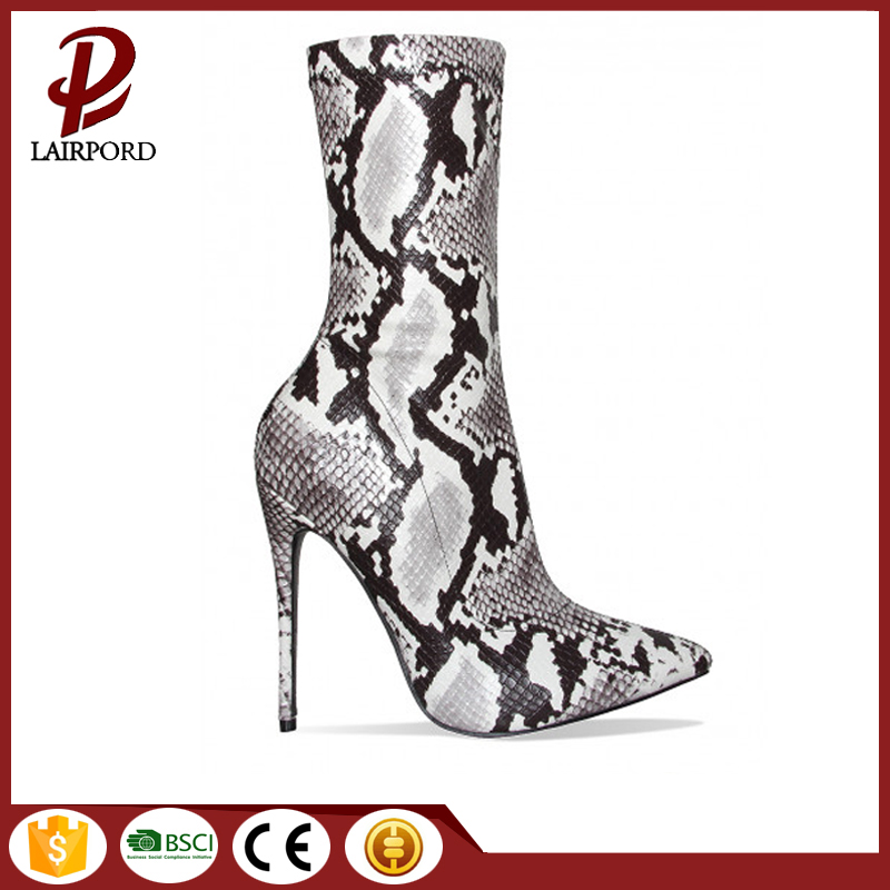 hot sale balck Serpentine women ankle boots