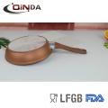 La sartén de aluminio forjada de cobre con revestimiento de cerámica 3D refuerza antiadherente