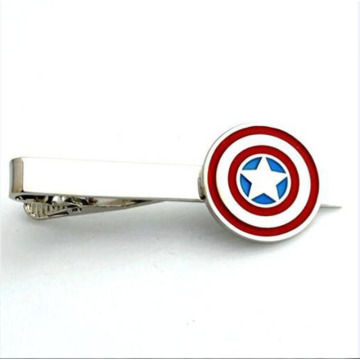 Graveerbare Captain America Heren Tie Bar Clip