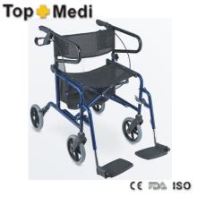 Combinação de venda superior de design de cadeira de rodas e patins para idosos
