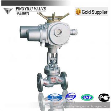 Motorized globe valve PN16-PN100