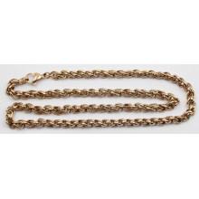 Espessura de ouro Rose Diâmetro 5mmstainless Steel Twist Chain